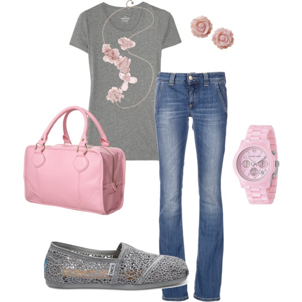 Soft & Sweet, created by hosefish.polyvore.com: Casual Style, Sweet, Fashionista, Pink Gray, Clothing, Polyvore Pink, Pink Grey, Gray Casual, Pink And Gray
