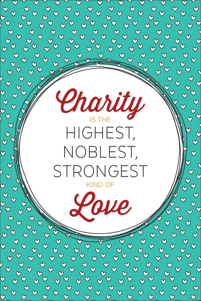 October 2015, Visiting Teaching Printable Handouts Charity is Love-01