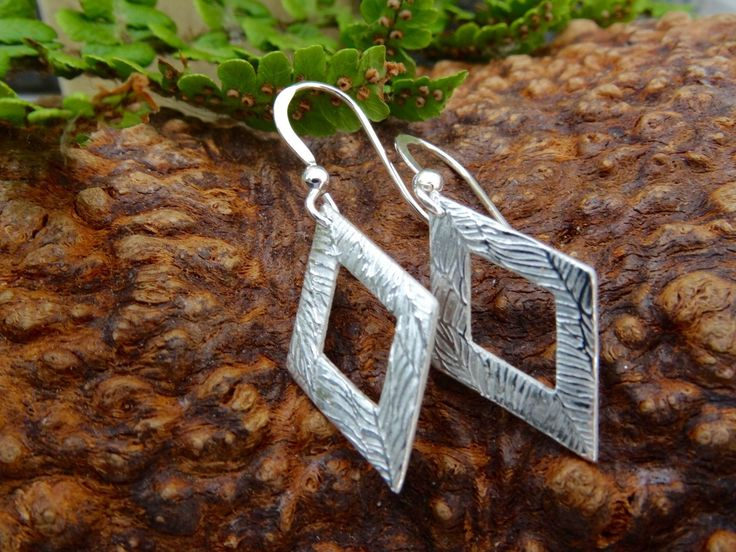 New to SilverWindsJewellery on Etsy: Silver Drop Earrings  Diamond   just for her gift for her birthday present for wife Dangle and drop Christmas stocking (13.95 GBP)