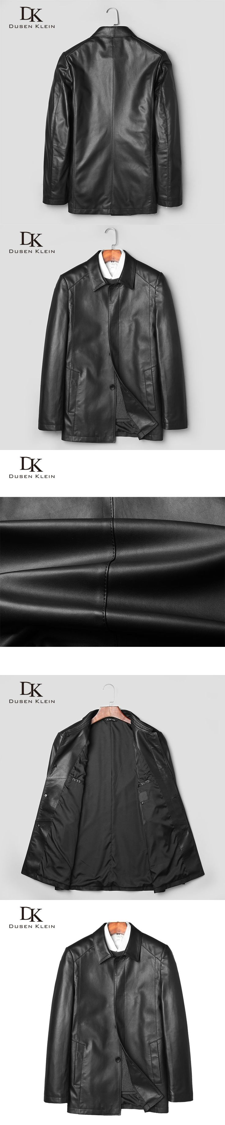 Fashion leather jackets men Dusen Klein New 2017 Genuine sheepskin Causal/Slim leathe coats for man Design Jacket 71J7827