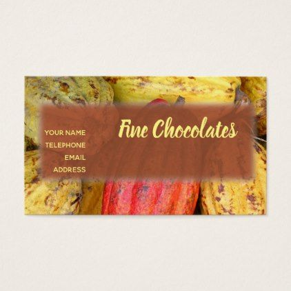 #Organic Cacao Bean Pods for Making Chocolate Business Card - #office #gifts #giftideas #business