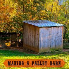 How to make a pallet barn: A pictured look on how we made our 10x10 goat barn using pallets as the base