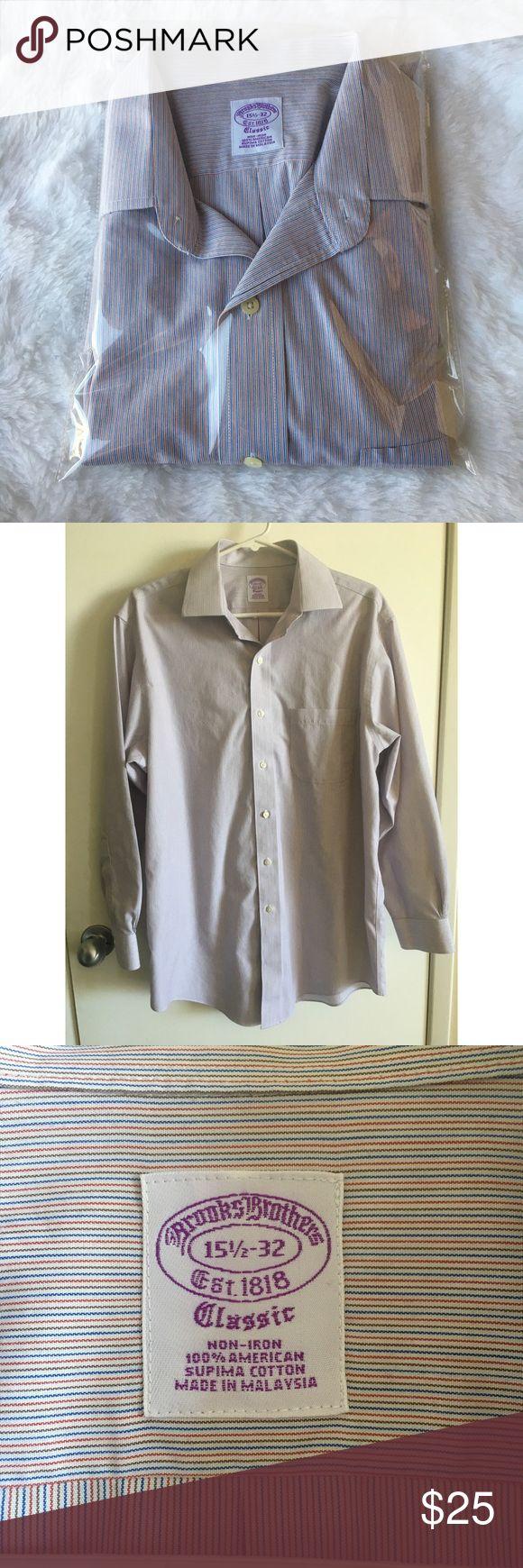 Brooks Brothers Classic Dress Shirt 15 1/2- 32 Brooks Brothers  Classic Fit  Non iron dress shirt  15 1/2- 32  Striped  In excellent condition Brooks Brothers Shirts Dress Shirts