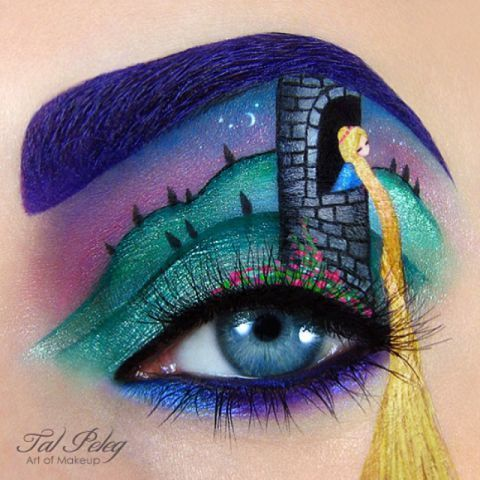 Makeup artist and blogger Tal Peleg creates amazing works of art on her eyelids