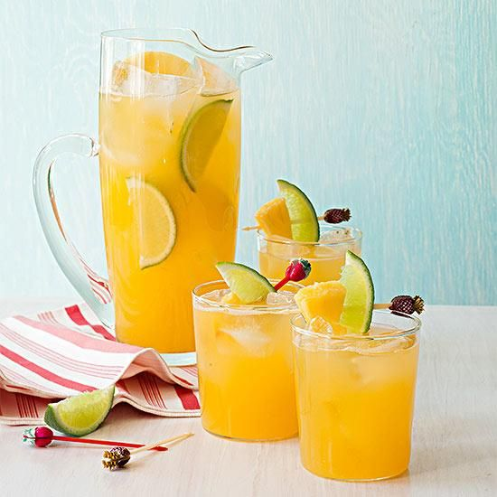 5 Cocktail Party Pitchers including our Pineapple-Lime Cooler