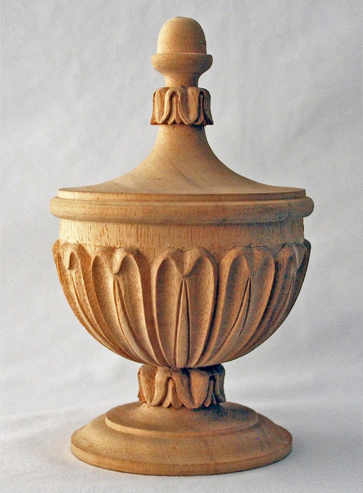 Acanthus Leaf Urn Finial Home Deco In 2019 Wood Art