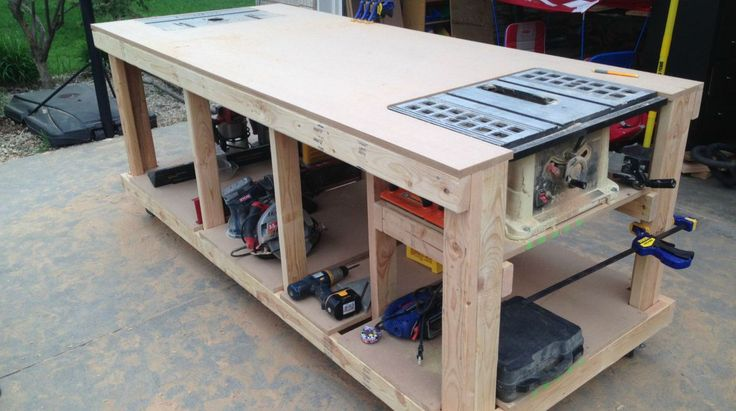 Building a nice workbench is important. Many have come up with their own approaches. Here's how to build one using basic tools.