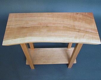 Live Edge Wood Entry Table- Small Table for Foyer, Accent Table, Narrow End Table- Handmade Wood Furniture