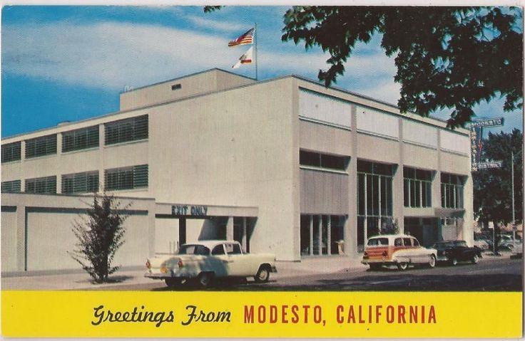 "Modesto California Postcard ""Irrigation District Building"