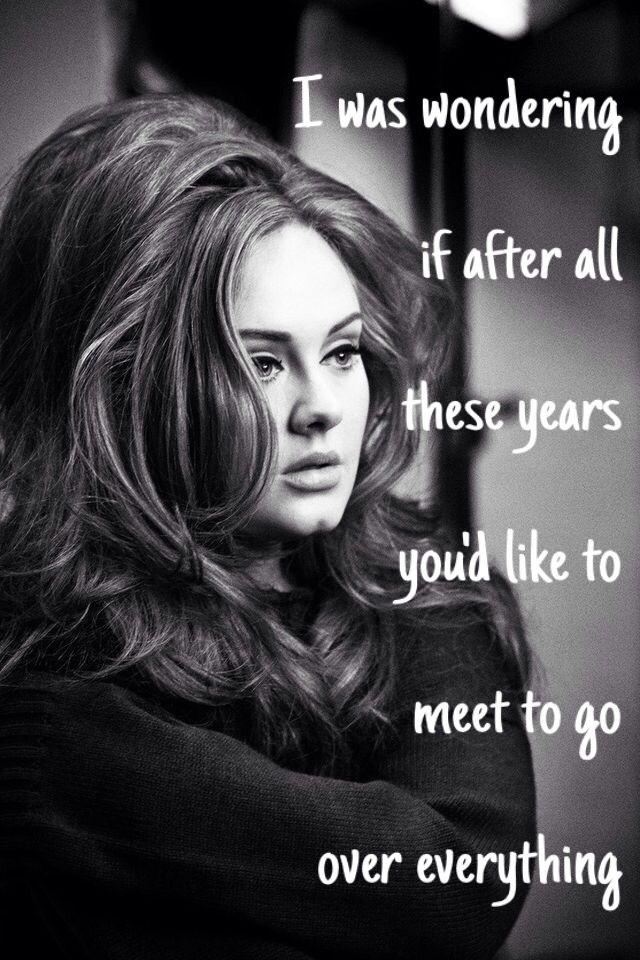 Best 25+ Adele Lyrics Ideas On Pinterest
