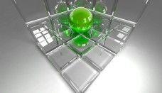 Ball In The Box 3D Glass Wallpaper