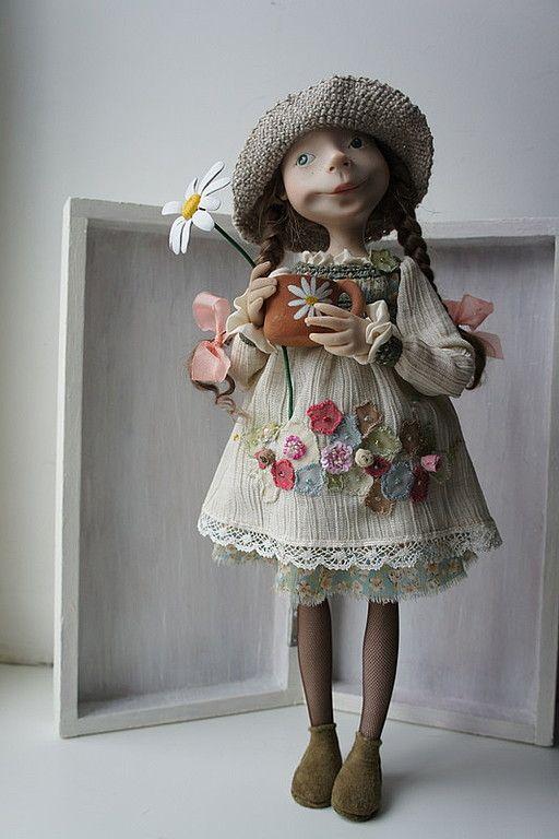 """""""Ромашковый чай"""" - авторская кукла,полимерная глина ливингдолл (living doll)"""