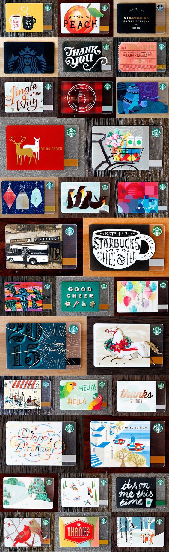 A glimpse at the Starbucks 2014 Holiday Card Collection. #StarbucksCard: