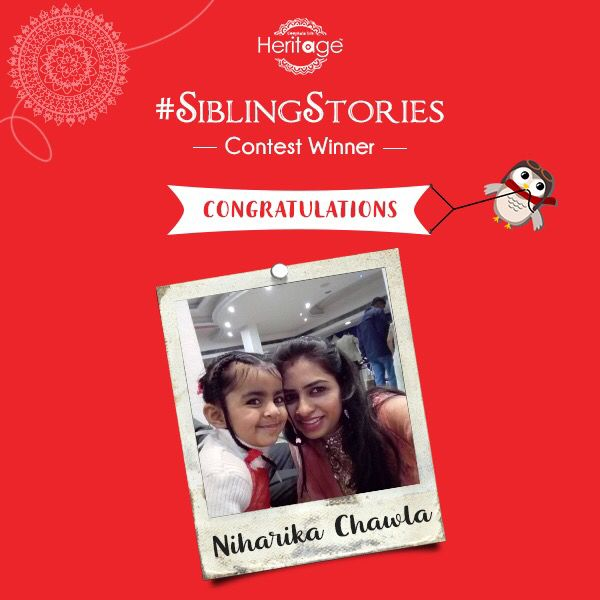 Thank you for the beautiful stories shared by you all, you made choosing one a very difficult task. Well played everyone! Congratulations to Ms. Niharika Chawla, the winner of #SiblingStories contest. #SiblingSeason #RakhiContest #Winner
