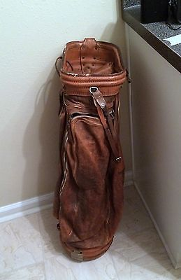 Vintage Burton Mfg Co Leather Jasper Alabama Golf Bag Burtons W Rain Cover Golf Alabama And