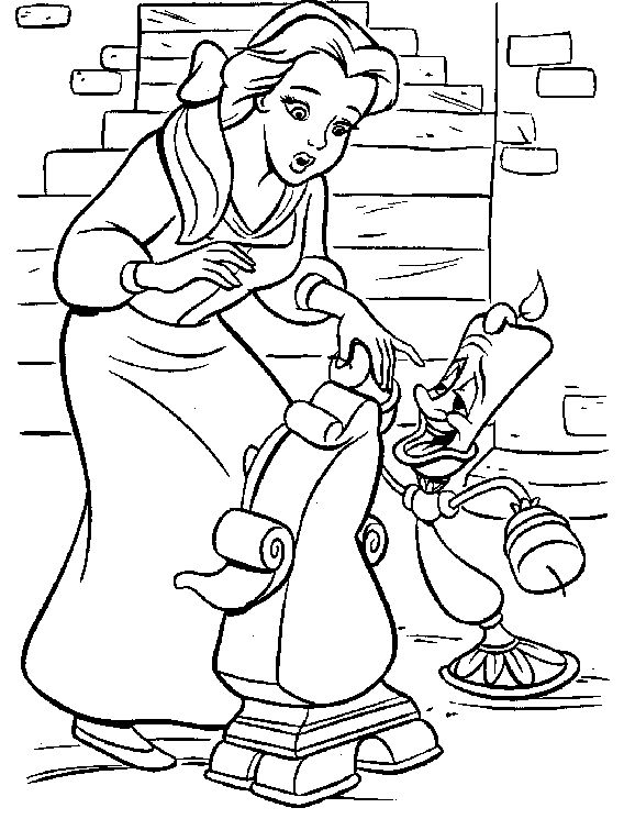 Princess Belle With Friends Coloring Pages Princess