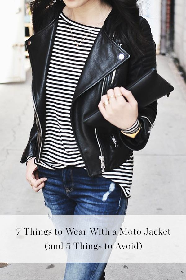 7 Things to Wear with a Moto Jacket (and 5 Things to Avoid). Ultimate cool girl or lead singer of Kiss?
