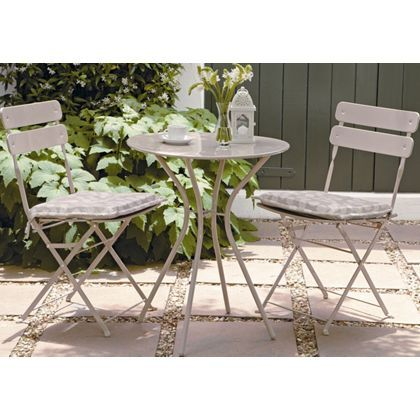 Folding Bistro Garden Furniture Set - Stone at Homebase -- Be inspired and make your house a home. Buy now.