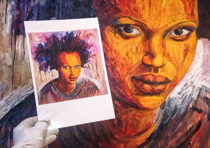 Muy contentos con el resultado de las digitalizaciones + posteriores impresiones #giclée en  Canson Infinity Edition Etching Rag 310gsm de Bianca Batlle Nguema 😍😍 Este domingo 14/05 a las 12:30h jornada de puertas abiertas de su taller SOL DOS donde encontraréis originales y #prints ✨ moltes gràcies Bianca 💪🏻💪🏻✨ #nguema #africanwomenartists #aficanwomenpower #blackgirlsrocks #blackwomenpower #blackwomenartist #oilpainting #limitededition #prints #gicleeprints #giclee #artprint…