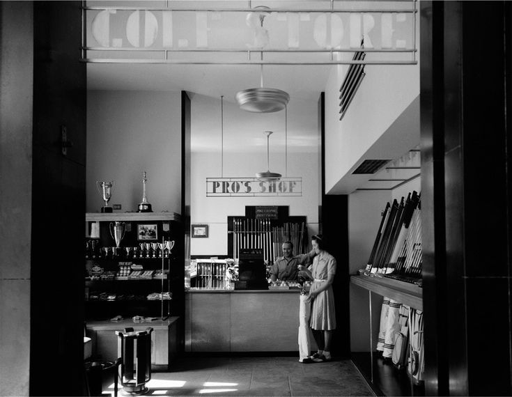 A quirky vintage piece is a great addition to any salon wall. Check out Split Rock Golf Pro Shop, 1940, a Vintage Edition to get your fix!