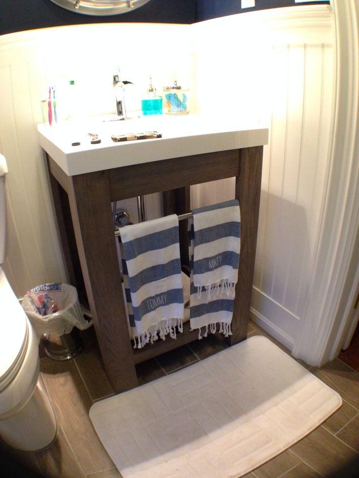 Freestanding Vanity From Lowes Vanity Nautical Bathroom Nautical Bathroom Pinterest