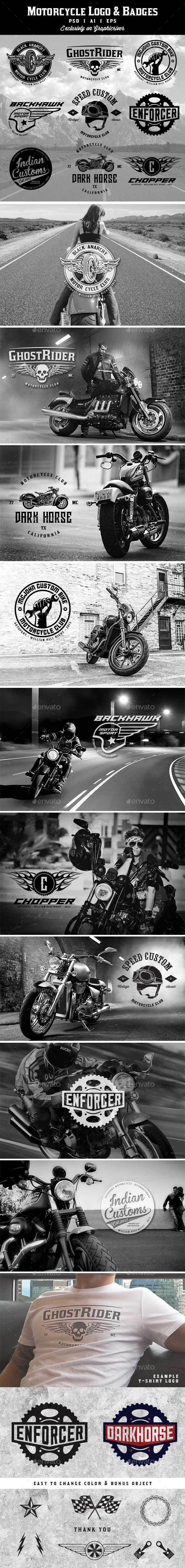 Motorcycle Logo & Badges Template #design Download: http://graphicriver.net/item/motorcycle-logobadges/13133907?ref=ksioks