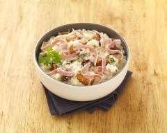 Risotto au jambon et champignons - Une recette CuisineAZ