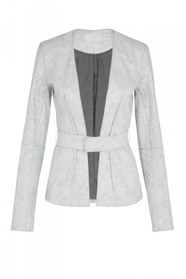 Your Song #Sass&Bide #LeatherJacket #White