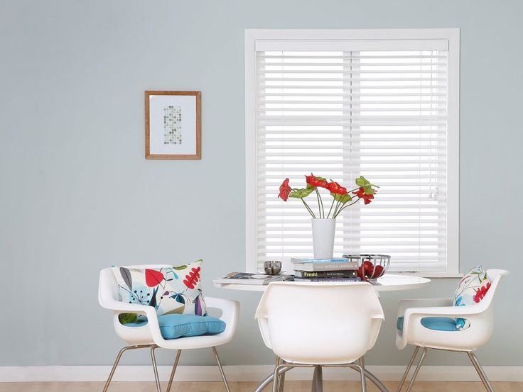 Bali faux-wood venetian blinds have the same look as a white painted wooden venetian and are a reliable, highly functional and affordable alternative to timber varieties.
