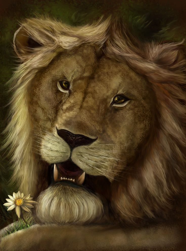 Portrait of a sentimental lion by Vilenchik.deviantart.com on @DeviantArt