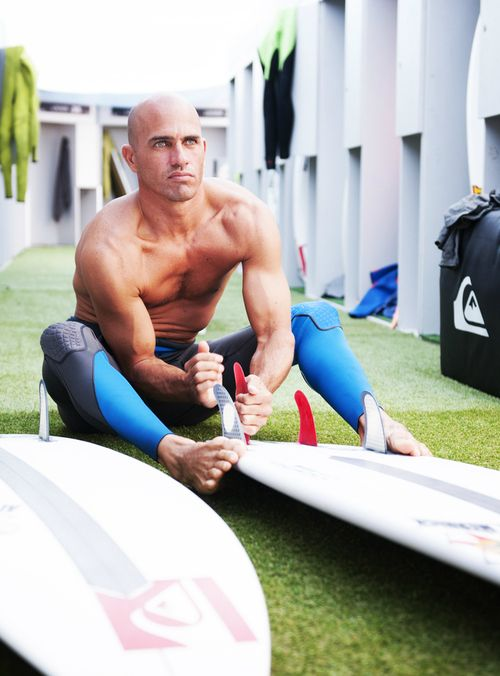 Kelly Slater... prepping...