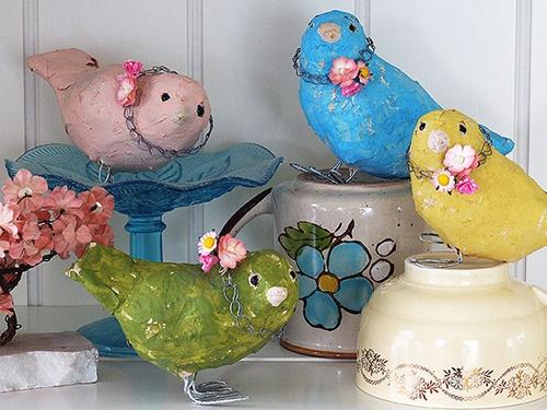 paper mache: Do Birds, Little Birds, Paper Mache, Paper Birds, Alicia Paulson, Papier Mache, So Sweet, Birds Crafts, Birds Patterns