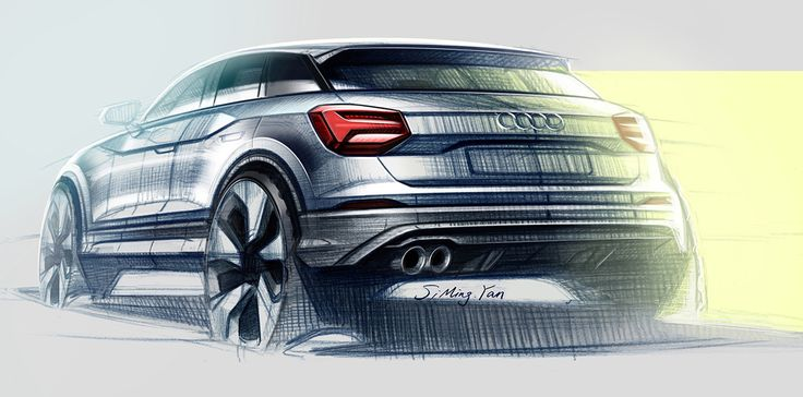 audi q2 on behance analog sketches transportation design pinterest. Black Bedroom Furniture Sets. Home Design Ideas