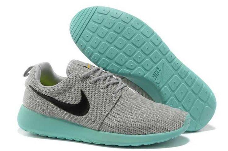 Trainers - Nike Roshe Run Mesh Junior Mens Gray Bamboo Green Black Friday