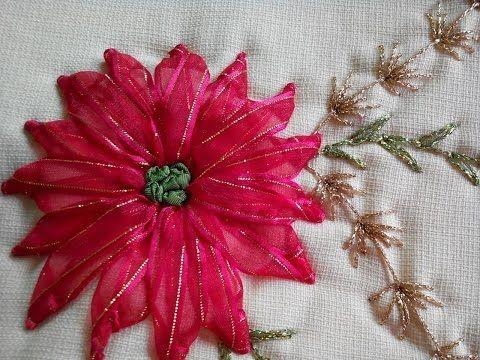 NOCHEBUENA BORDADA (Embroidered Poinsettia) - YouTube