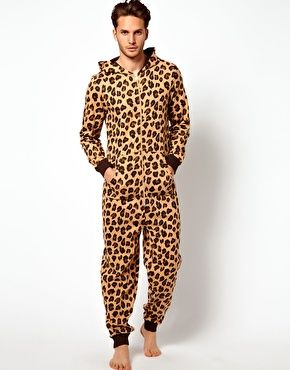 ASOS Onesie With Leopard Print. I like this one, cause the double zip heads make things easier :)