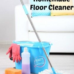 Make this all natural homemade floor cleaner right at home.