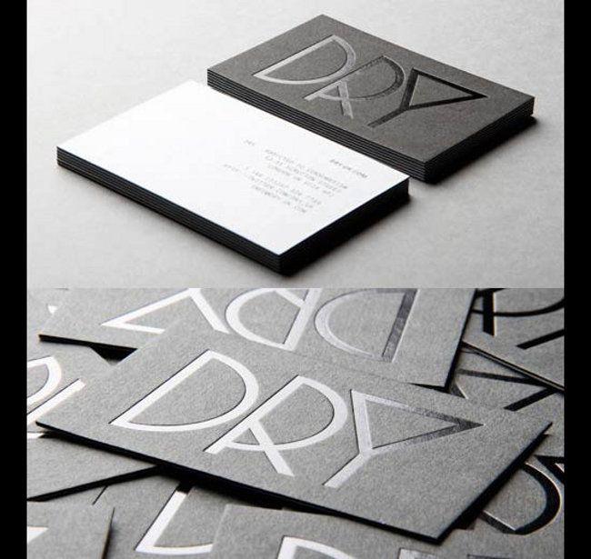 Dark Letterpress Business Cards