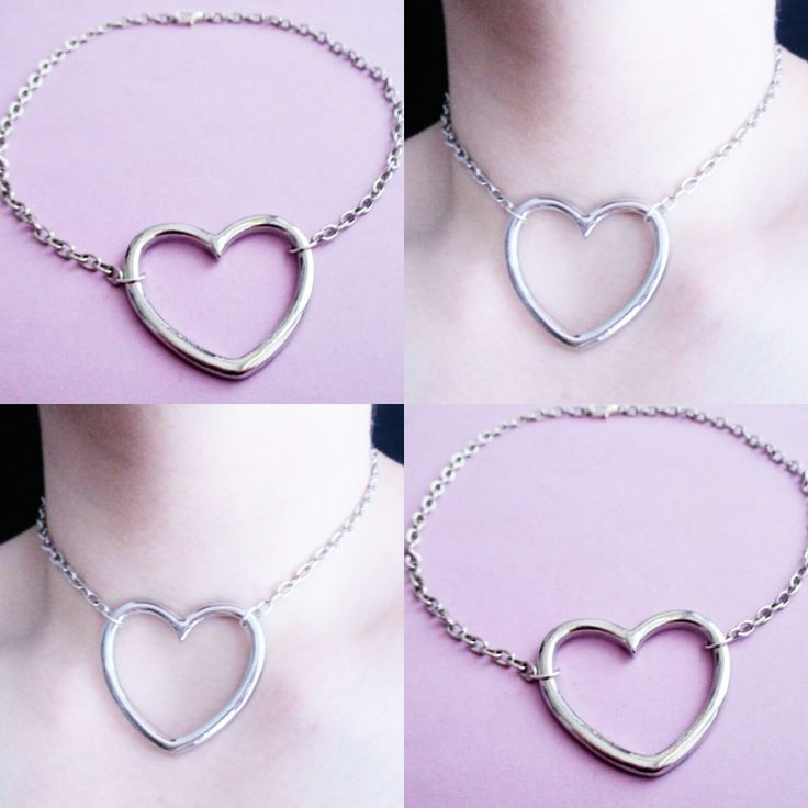 heart ring choker ♥♥ OfStarsAndWine on etsy ♥♥ pastel goth kawaii grunge style