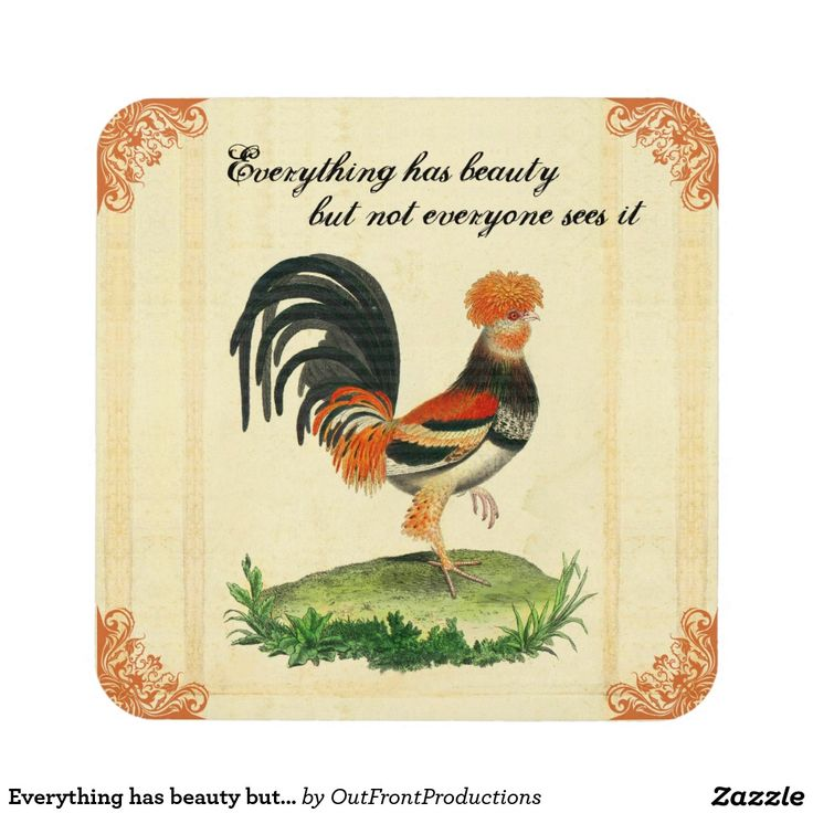 Everything has beauty but not everyone sees it drink coasters