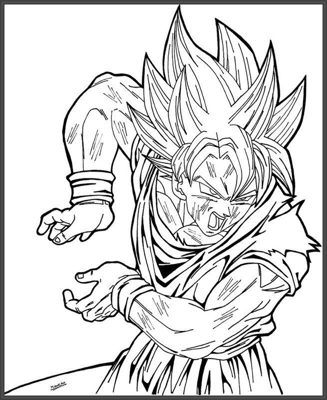 Imagenes De Goku Y Sus Transformaciones Para Colorear Colorear Imagenes Como Dibujar A Goku Dibujo De Goku Dibujos