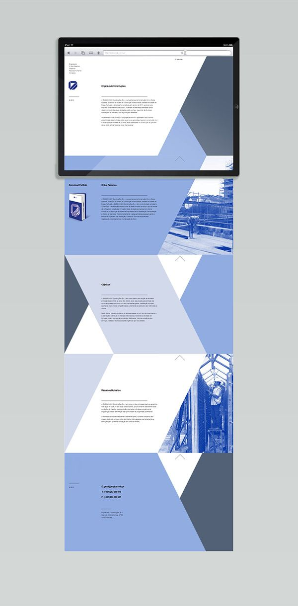 Branding / Web design / Editorial : Engicávado Const. on Behance