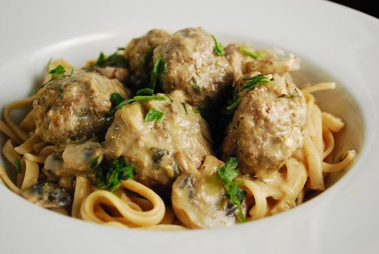 Swedish Meatballs--Looks good but recipe is Weight Watchers so I will modify to make it healthy--full-fat cream cheese, homemade beef stock, grass-fed beef, and oats instead of breadcrumbs for GF (and none of that non-fat cooking spray chemical concoction).  Other than that, looks delicious!