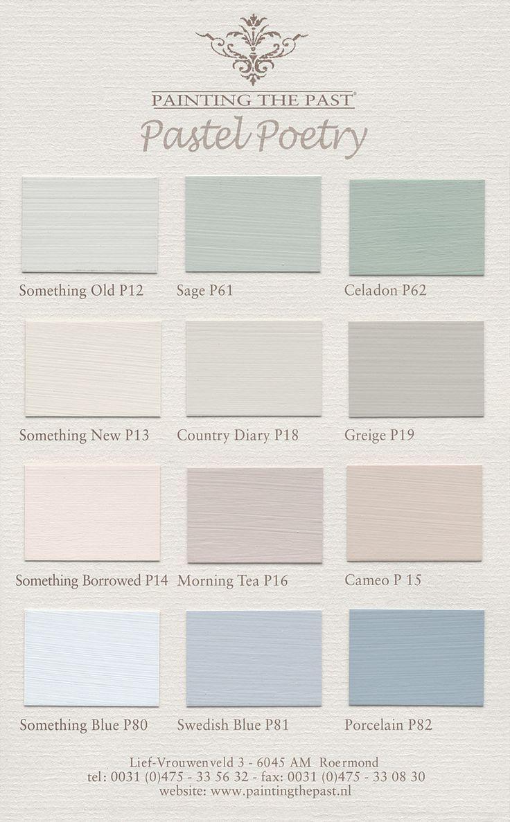 Farbkarten für Wandfarben und Möbelfarben von Pa…