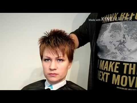 Видеоурок 5 Короткая женская стрижка - YouTube