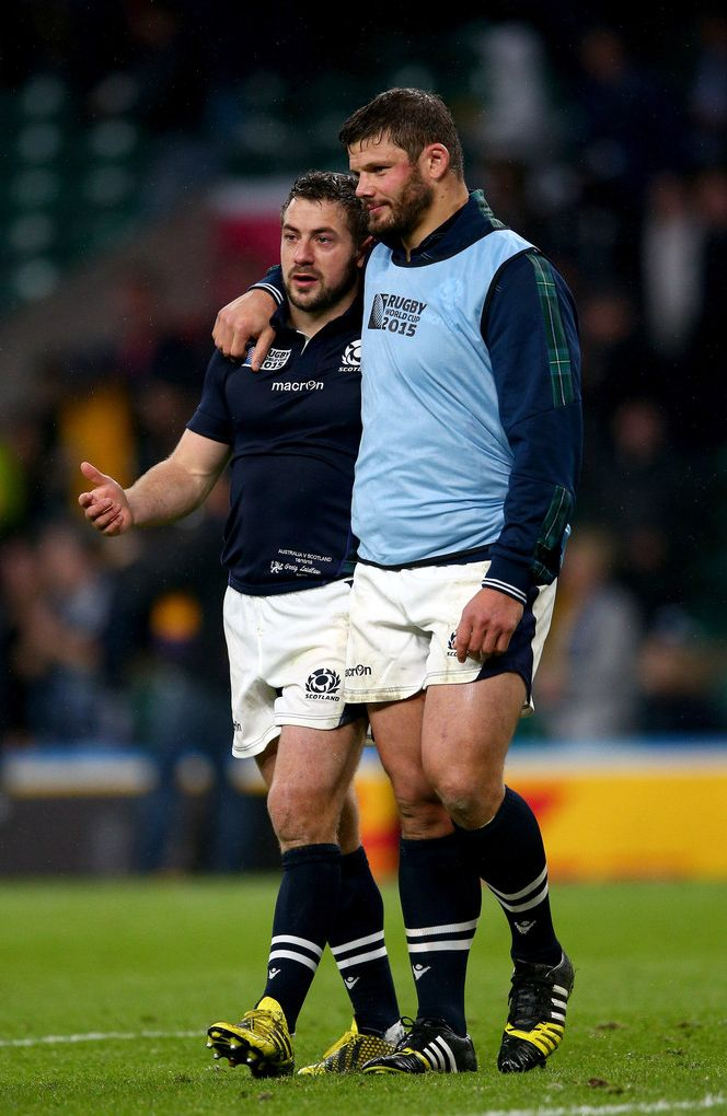 Rugby: Greig Laidlaw and Ross Ford of Scotland
