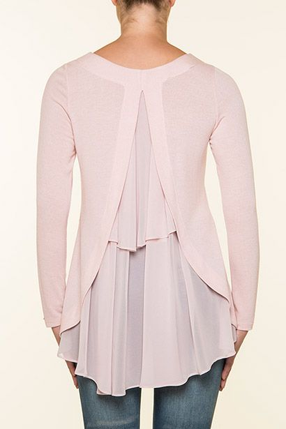 Impressive pink blouse (mousseline) by Vener Fashion!