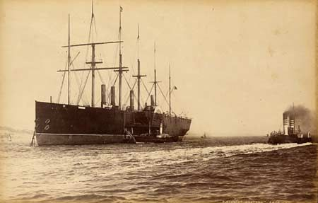 Great Eastern at sea in the 1870s