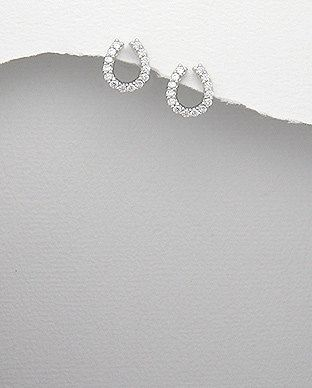 Sterling Silver Diamante Dainty Horse Shoe by SunshineNShowers, £12.00