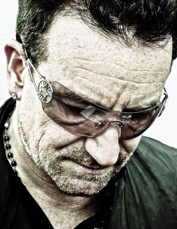 Bono U2, He is an inspiration both musically and through his humanitarian effort, he makes people believe they can make a change in the world.